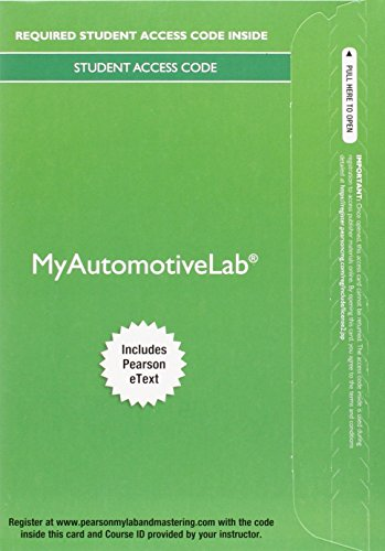 MyLab Automotive with Pearson eText -- Access Code Card -- for Automotive Technology