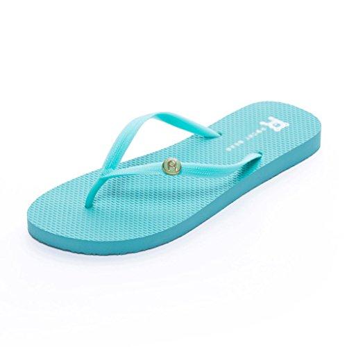 Tama de Shiny Color Beige Beach Verano o a de Pearly Pantuflas Blue Sandalias Prueba Femenino 39 y Agua qz76wqBr