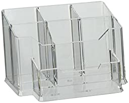 Source One Premium Acrylic Desk Top Organizer with Pen/Business Card Holder (Organizer-Desk)