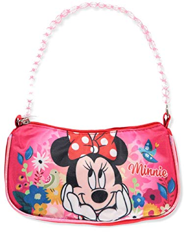 Disney Minnie Mouse Shoulder Handbag Purse With Beaded Handle