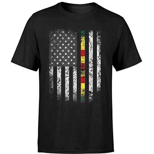 Proud Vietnam Veteran Shirt US Flag Ribbon Father Gift Tee (Unisex T-Shirt/Black/M) -