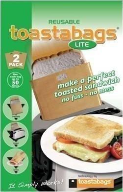 Bolsa para tostadora, de la marca Toastabags, paquete de dos con 50 usos, producto original