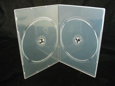 Vision Media 20 x Doble Transparente Fino 7 mm Espina DVD/CD/BLU Ray Caso: Amazon.es: Electrónica