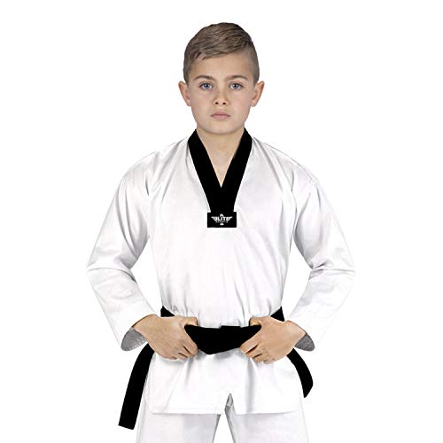 Elite Sports Taekwondo Uniform for Kids Tae Kwon Do Gi, Kimono with Free Belt (000)