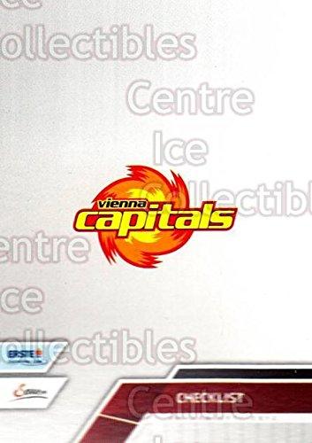 (CI) EV Vienna Capitals, Checklist Hockey Card 2011-12 Erste Bank Eishockey Liga EBEL (base) 288 EV Vienna Capitals, Checklist