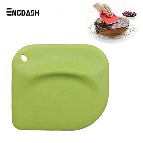 ENGDASH 1pc Silicone Cake Scraper Ice Creamer Spatula Silicone Cake Smoother Cake Scraper Dough Cutter Baking Tools (Best Blender For Ice Australia)