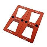 Flameer 1 Piece Metal Dovetail Template Marker Size 1:5-1:7 and 1:6-1:8 Red New