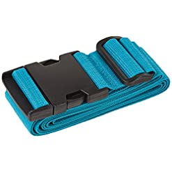 WMB Travel Pro 41I%2BJhVABkL._SS247_ Travel Smart by Conair Luggage Strap, Teal