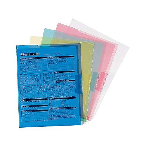 - Staples Poly Project Jackets, Letter, Assorted Transparent, 5/Pack