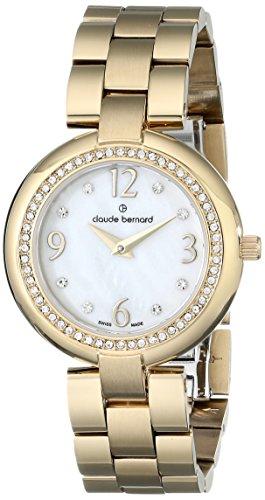 Claude Bernard Women's 20082 37J NAP Dress Code Quartz Analog Display Swiss Quartz Gold watch
