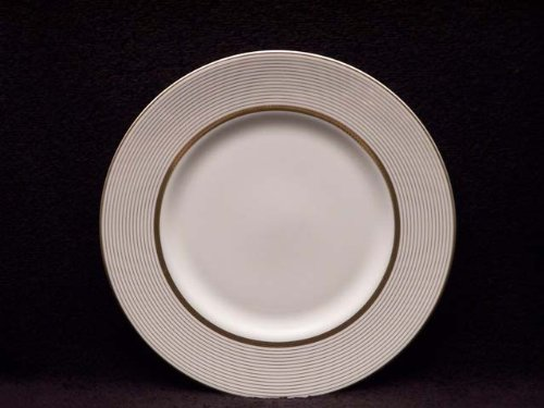 Monique Lhuillier China: Ruban d'or Accent Plate Stripes, - Accent Dor