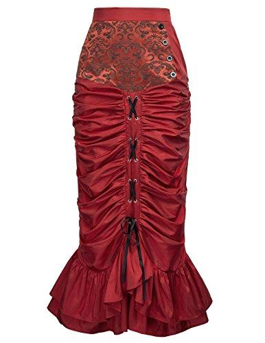 Red Poque Femme Jupe Belle Moulante FxOvqgIZw