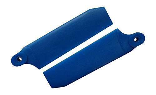 KBDD 72.5mm W/ 5mm Root Pearl Blue Extreme Edition Tail Rotor Blades - 500 Size #4032