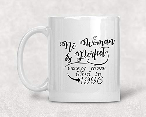 No Woman is Perfect 1996 22nd Birthday Mug 22nd Birthday Gift 1996 Birthday Coffee