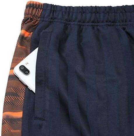 Mc.S.P スラッシュ プリント ライン ジャージ 六分丈 パンツ ネイビー × オレンジ 1254-0280-1 大きいサイズ メンズ 3L 4L 5L 6L 8L