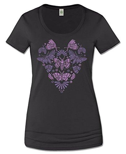 Soul Flower Women's Scoop Neck Night Moths T-Shirt - Shades Trippy