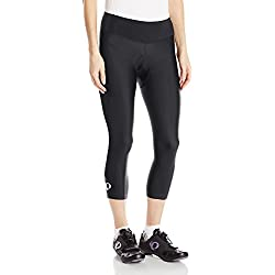 Pearl iZUMi Women's Escape Sugar CYC 3 Quarter Tights, Black/Black, Medium
