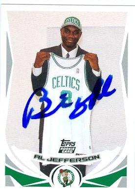 Autograph Warehouse 44784 Al Jefferson Autographed Basketball Card Boston Celtics 2004 Topps No .235
