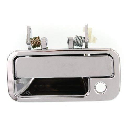 Exterior Front Door Handle Compatible with ISUZU PICKUP 1988-1995 LH All Chrome Metal Lever+Plastic Housing
