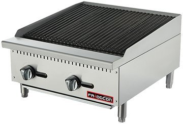 24'' COMMERCIAL RADIANT CHARBROILER 18'' - NATURAL GAS by FRIDGCON