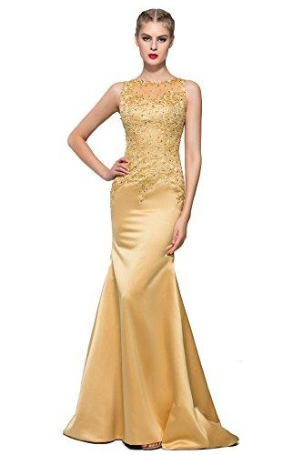Sisjuly Women's Graceful Straps Lace Appliques Sequins Mermaid Evening Dress 2