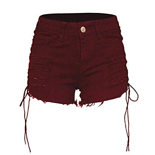 - ▶HebeTop◄ Women's Denim Cut Off Shorts Sexy Destroyed Ripped Short Jeans Mini Hot Pants Clubwear