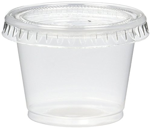 125 Count Jello Shot Souffle Cups and Lids, 1-Ounce, Translucent -