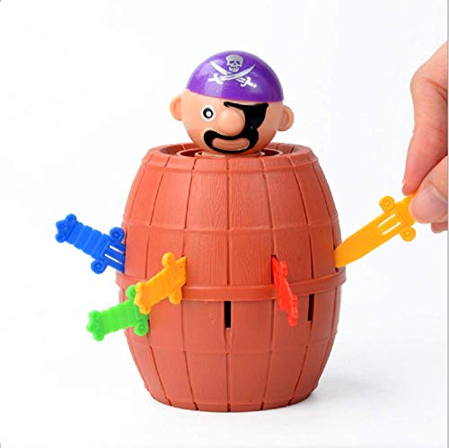 (Yivision Pirate Funny Barrel Novelty Toy Bucket for Kids and Adults Lucky Stab Toys Game Toy Funny Toy Stress Reliever Toys)