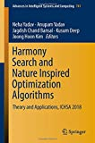 Harmony Search and Nature Inspired Optimization Algorithms: Theory and Applications, ICHSA 2018 (Advances in Intelligent Systems and Computing)