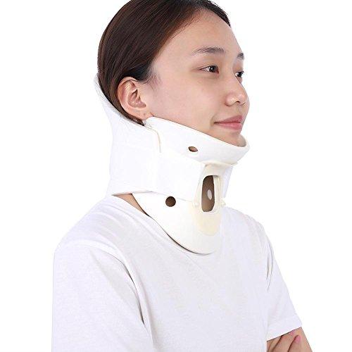 (Neck Stretcher Collar Adjustable Neck Brace Soft Cervical Support for Vertebrae Neck Pain Relief(M))