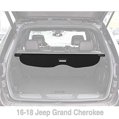Yeeoy Cargo Cover Security Rear Trunk Cover Retractable Fits 2016-2018 Jeep Grand Cherokee