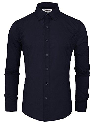 Tam Articles Mens Chemises Habillées De Base De Luxe Décontracté Twcs05a-marine-nous S