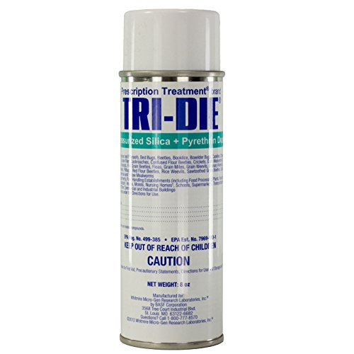Tri-die Pressurized Silica + Pyrethrin Dust 8 Oz ''lot of 12'' Bedbugs & Insects by Prescription Treatment