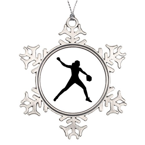 Dozili Ideas for Decorating Christmas Trees Softball Pitcher Turquoise Christmas Snowflake Ornaments