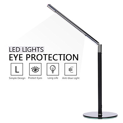 Hogoo 3-Level Eye Protection LED Desk Lamp,90° Adjustable,5V,3Watt,24 Lamp Beads,Black by Hogoo (Image #6)