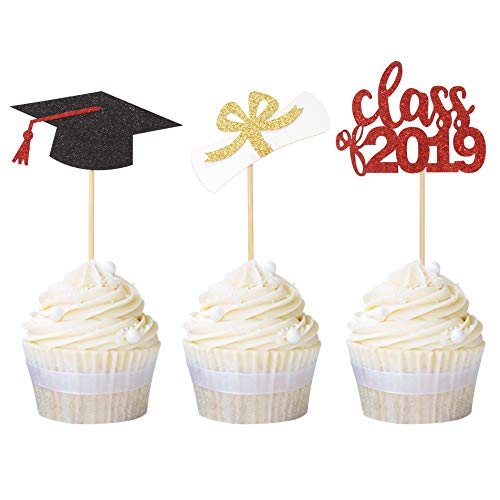 High School Graduation Party Decorations - Newqueen 24 Pack Class of 2019