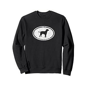 Unisex I Heart Labrador Retrievers Sweatshirt for Dog Lovers Large Black