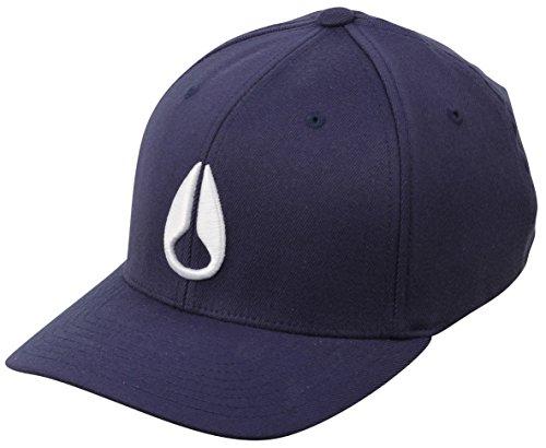 Nixon Deep Down Athletic Flexfit Hat Navy, (Designer Dress Hat)