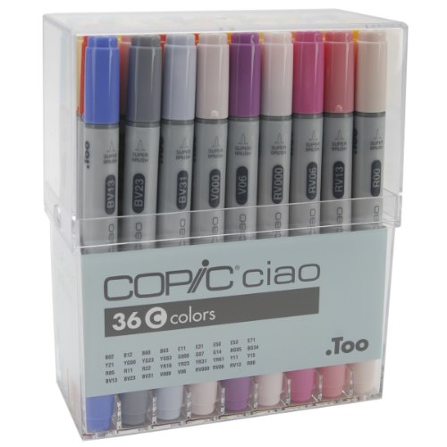 Copic Marker Copic Ciao Markers Set of 36, Color Set C by Copic Marker