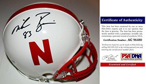 Mike Rozier Signed - Autographed Nebraska Cornhuskers Mini Helmet - Certificate of Authenticity (COA) - PSA/DNA Certified
