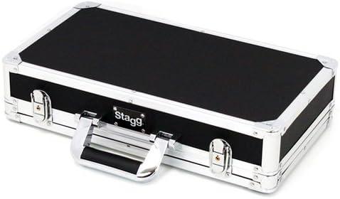 Stagg UPC-424 - Estuche para guitarra de ABS (para transporte aéreo), color plateado, 22.6 x 42.4 x 7.2 cm