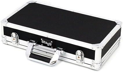 Stagg UPC-424 - Estuche para guitarra de ABS (para transporte aéreo), color plateado, 22.6 x 42.4 x 7.2 cm: Amazon.es: Instrumentos musicales