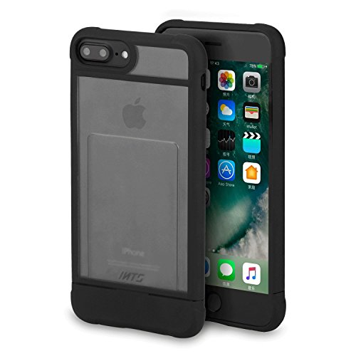 iphone case Apple iPhone 7 Plus Case (5.5 inches) Clear Super Shockproof Drop Protection Heavy Duty Foldable Protective Credit Card Mobile Phone Cover Shell Compatible iPhone 6/6s/7 Plus Case ()