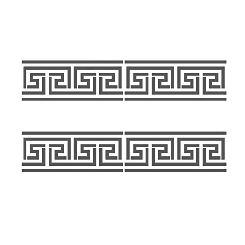 J BOUTIQUE STENCILS Greek Key Side Border Stencil #2 reusable Template for Crafting Wall DIY decor