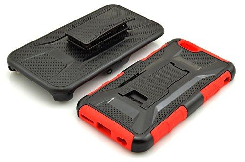 "Iphone 6 Coque,Iphone 6S ??Coque,Lantier [Heavy Duty Robot] [Military Defender] Black Armure Ceinture premium clip Holster Béquille couvercle pare chocs pour Apple Iphone 6,Iphone 6S 4.7 ""Red"