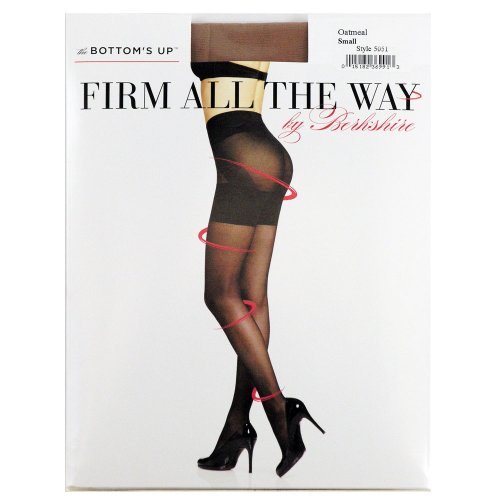 Berkshire Pantyhose Sheer (Berkshire Women's Firm All The Way Bottoms Up Pantyhose 5051, Black, Medium)