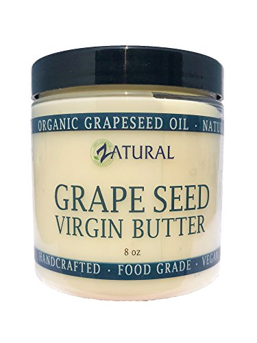 GrapeSeed Butter-Food Grade_100% Pure Ingredients_0 Fillers and 0 Artificial Ingredients (8 Ounce) (Butter Grape Body Seed)