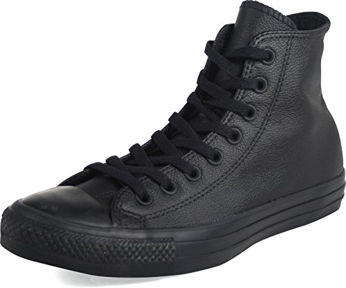 Converse Chuck Taylor All Star Leather High Top Sneaker, Black Mono, 9.5 M US
