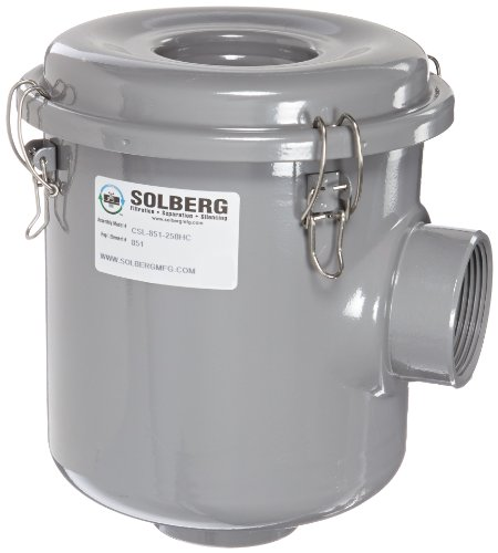 Solberg CSL-851-250HC Inlet Filter, 2-1/2'' FPT Inlet/Outlet, 10-1/2'' Height, 8-3/4'' Diameter, 210 SCFM by Solberg