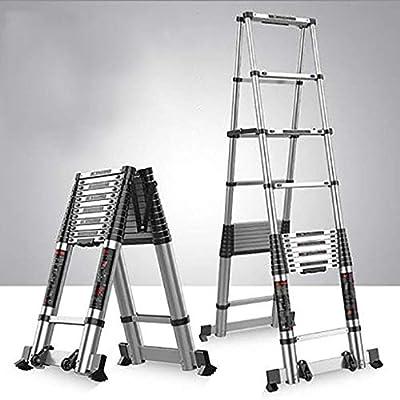 AOLI De aluminio telescópica Escalera, Escalera de extensión multifunción escalera portátil plegable extensible Propósito Escalera Escalera Multi-A5 3.3 + 3.3M,B1: Amazon.es: Bricolaje y herramientas